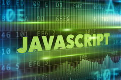 Javascript concept. Blue background with blue text Stock Photos