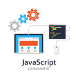 JavaScript flat  illustration Royalty Free Stock Photo