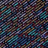 Javascript functions, variables, objects. Monitor closeup of function source code. IT specialist workplace. Big data and Internet of things trend. HTML website stock photo