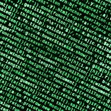 Javascript functions, variables, objects. Monitor closeup of function source code. IT specialist workplace. Big data and Internet of things trend. HTML website royalty free stock photography