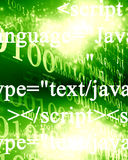 Javascript. Technology background with some soft highlights and dots Stock Photos