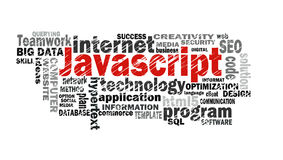 Javascript word cloud Royalty Free Stock Photo