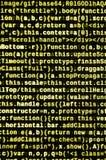 Javascriptfunktionen, Variablen, Gegenstände Überwachen Sie Nahaufnahme des Funktionsquellcodes IT-Fachmann-Arbeitsplatz stockfotografie