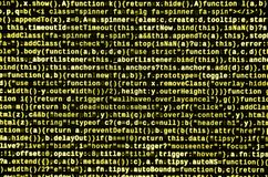 Javascriptfunktionen, Variablen, Gegenstände Überwachen Sie Nahaufnahme des Funktionsquellcodes IT-Fachmann-Arbeitsplatz lizenzfreie stockfotos