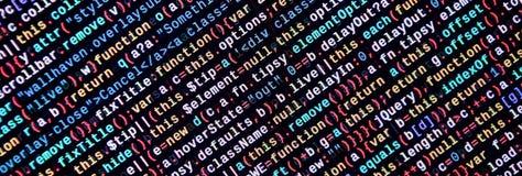 Javascriptfunktionen, Variablen, Gegenstände Überwachen Sie Nahaufnahme des Funktionsquellcodes IT-Fachmann-Arbeitsplatz lizenzfreie stockbilder