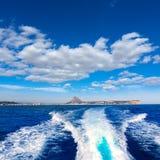 Javea με το ακρωτήριο mongo και antonio SAN από τη βάρκα Στοκ εικόνα με δικαίωμα ελεύθερης χρήσης