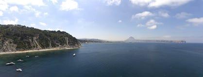 Javea aereal panoramisches Stockfoto