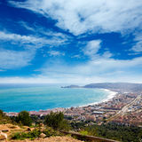 Javea in Alicante aerial view Valencian Community spain Royalty Free Stock Photo