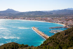 Javea in Alicante aerial view Valencian Community of spain Stock Photos