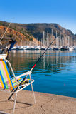 Javea in alicante fisherboats in Mediterranean sea Royalty Free Stock Photography