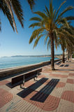 Javea beach promenade Royalty Free Stock Photos