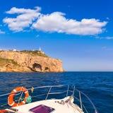 Javea Cabo de la Nao Lighthouse cape in Alicante Stock Photography