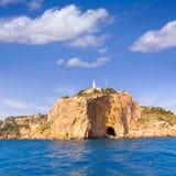 Javea Cabo de la Nao Lighthouse cape in Alicante Royalty Free Stock Photos