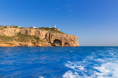 Javea Cabo la Nao Lighthouse Mediterranean Spain Stock Image