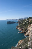 Javea coast from Cape Nao Royalty Free Stock Photos