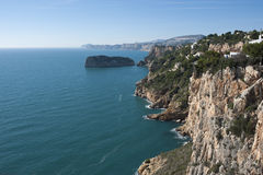 Javea coast from Cape Nao Stock Photos