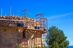 Javea Denia Mediterranean tower masonry improvement Stock Photos