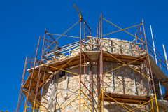 Javea Denia Mediterranean tower masonry improvement Stock Image
