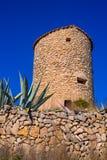 Javea denia San antonio Cape old windmills masonry structure Royalty Free Stock Image