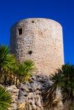 Javea denia San antonio Cape old windmills masonry structure Royalty Free Stock Photo