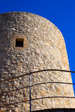 Javea denia San antonio Cape old windmills masonry structure Stock Photos