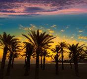 Javea El Arenal beach sunrise Mediterranean Spain Stock Images