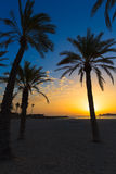 Javea El Arenal beach sunrise Mediterranean Spain Royalty Free Stock Photo