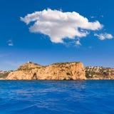 Javea Isla del Descubridor Xabia in Alicante Immagini Stock