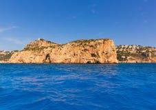 Javea Isla del Descubridor Xabia in Alicante Immagini Stock Libere da Diritti