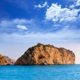 Javea Isla del Descubridor Xabia in Alicante Fotografia Stock Libera da Diritti