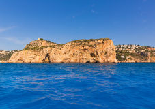 Javea Isla del Descubridor Xabia in Alicante Royalty Free Stock Images
