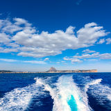 Javea with mongo and san antonio cape from boat Royalty Free Stock Image