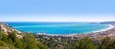 Javea panoramic in Alicante aerial view Valencian Community spai Royalty Free Stock Photography