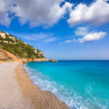 Javea Playa Ambolo beach Xabia in Alicante Royalty Free Stock Images
