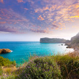 Javea Playa Ambolo beach Xabia in Alicante Royalty Free Stock Photos