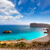 Javea Playa Ambolo beach Xabia in Alicante Stock Images