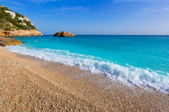 Javea Playa Ambolo beach Xabia in Alicante Stock Image