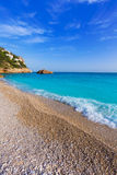 Javea Playa Ambolo beach Xabia in Alicante Stock Photos