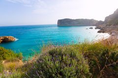 Javea Playa Ambolo beach Xabia in Alicante Stock Photo
