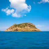 Javea Portixol Portichol island in Mediterranean Alicante Royalty Free Stock Images