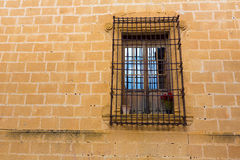 Javea Sant Bertomeu church window in Alicante Stock Image