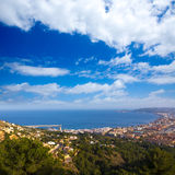 Javea Xabia aerial skyline from Molins Alicante Spain Royalty Free Stock Photo