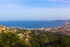 Javea Xabia aerial skyline from Molins Alicante Spain Royalty Free Stock Photography