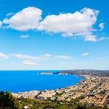 Javea Xabia aerial skyline with port in Alicante Stock Photo