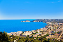 Javea Xabia aerial skyline with port in Alicante Royalty Free Stock Image