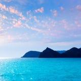 Javea Xabia Cabo San Martin przylądek Hiszpania i Potixol Zdjęcia Royalty Free