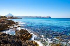 Javea Xabia Cala Blanca beach in Alicante Spain Stock Photo