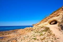 Javea Xabia Cala Blanca beach in Alicante Spain Stock Photography