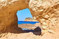 Javea Xabia Cala Blanca beach in Alicante Spain Stock Photos