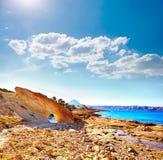 Javea Xabia Cala Blanca beach in Alicante Spain Royalty Free Stock Images